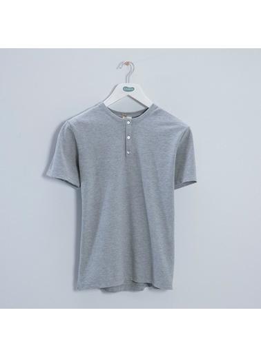 Chakra Hames Erkek T-Shirt Gri Gri